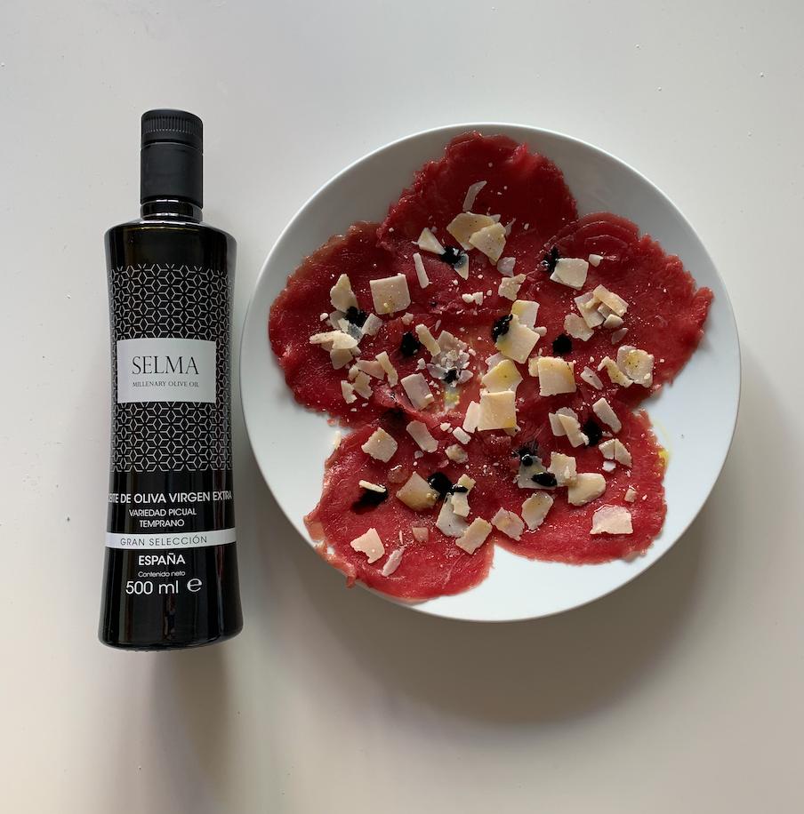 Receta de Carpaccio con SELMA Millenary Olive Oil